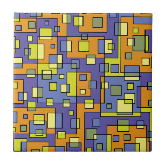 Yellow squares background tile
