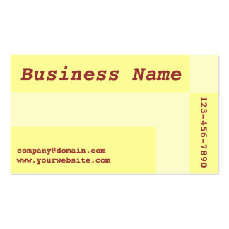 yellow squares Double-Sided standard business cards (Pack of 100)