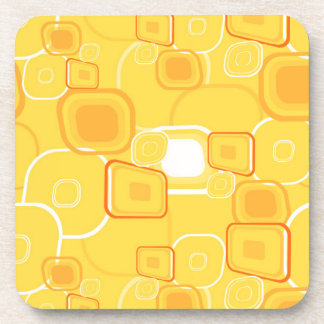 Yellow Squares Drink Coaster