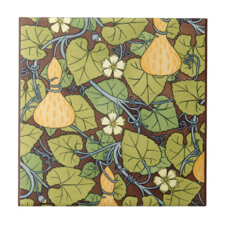Yellow Squash and Blossoms Tile