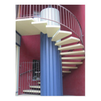 Yellow Staircase Postcard