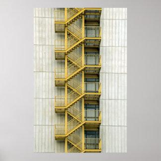 yellow stairways poster