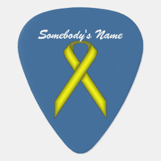 Yellow Standard Ribbon by Kenneth Yoncich Guitar Pick