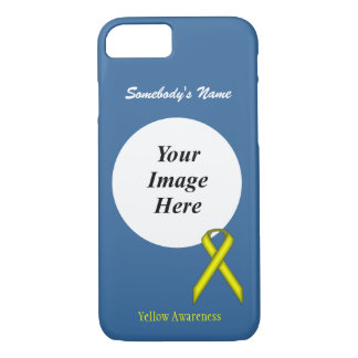 Yellow Standard Ribbon Template by Kenneth Yoncich iPhone 7 Case