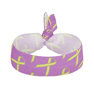 Yellow Standard Ribbon Template Hair Tie