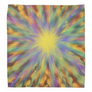 Yellow Star Multicoloured Abstract Art Painting Bandana
