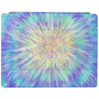 Yellow Star on Blue Abstract Art Painting Design iPad Cover