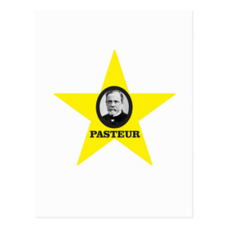 yellow star Pasteur Postcard