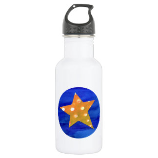 Yellow Star Water Bottle