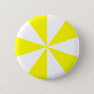 Yellow Starburst 2 Inch Round Button