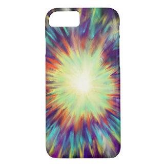 Yellow Starburst on Aqua Blue Indie Art Design iPhone 8/7 Case