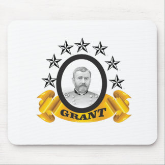 yellow stars of grant mouse pad