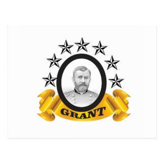 yellow stars of grant postcard