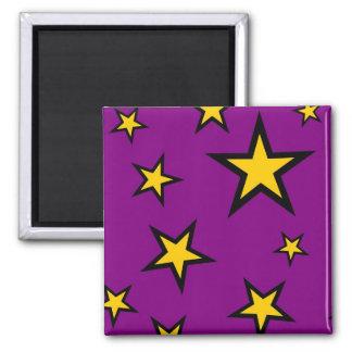 Yellow Stars on Purple Magnet