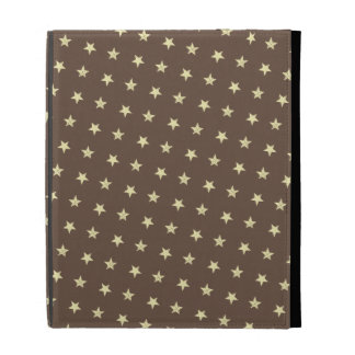 Yellow Stars Pattern iPad Folio Cover