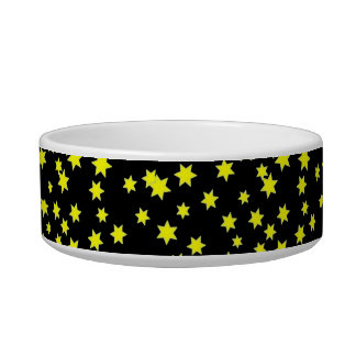 Yellow Stars Pet Bowl