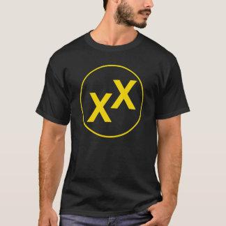 Yellow State of Jefferson Double-Cross Black Shirt