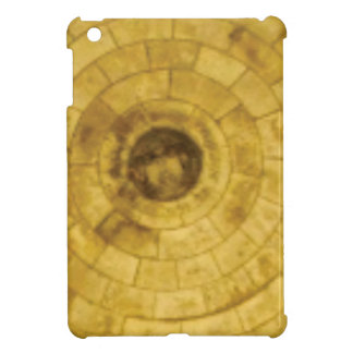 yellow stone circles cover for the iPad mini
