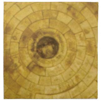 yellow stone circles napkin