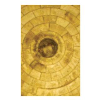 yellow stone circles stationery