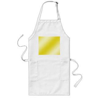 Yellow Stripe Abstract Long Apron