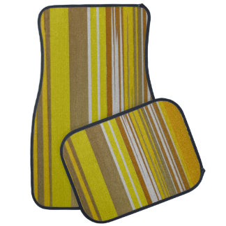 Yellow Stripe Design Set of 4 Car Mats
