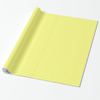 Yellow Stripe Wrapping Paper