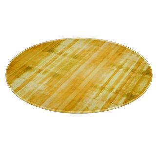 Yellow Striped Pattern Cutting Board