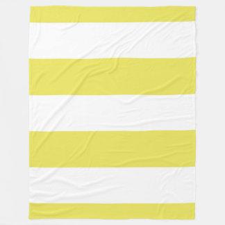 Yellow Striped Throw Fleece Blanket