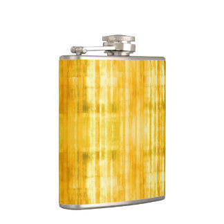 Yellow Stripes Art Pattern Flasks