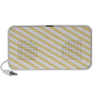 Yellow Stripes Background Mp3 Speakers