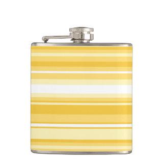 Yellow stripes hip flask