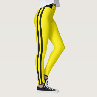 Yellow Stripes Leggings