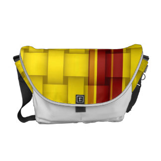 Yellow stripes painting art graphic design messenger bags