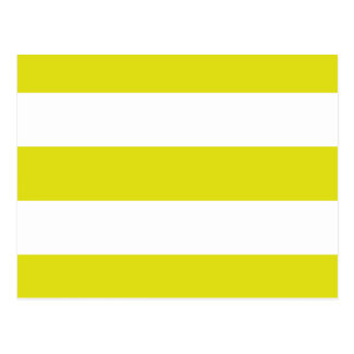 yellow stripes postcard