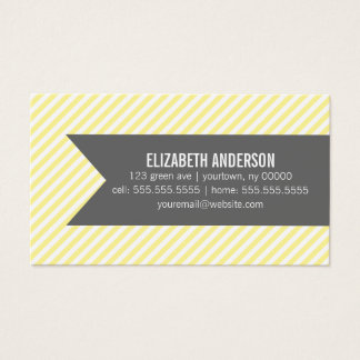 Yellow Stripes Social Calling Cards