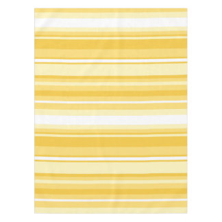 Yellow stripes tablecloth
