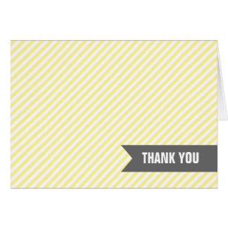 Yellow Stripes Thank You Notes