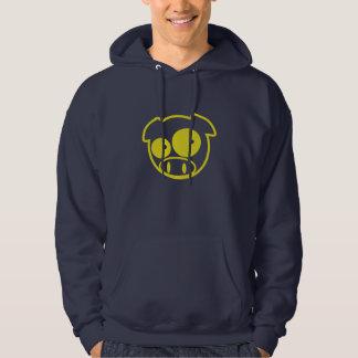 Yellow Subaru Mascot Pig hoodie