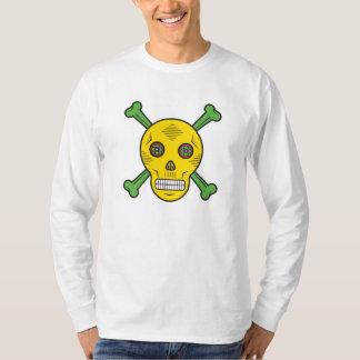 Yellow Sugar skull and bones T-Shirt
