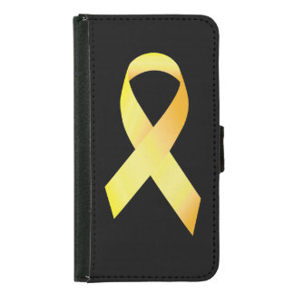 Yellow Suicide Prevention Ribbon Samsung Galaxy S5 Wallet Case