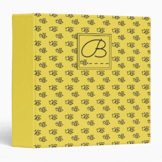 Yellow Summer Bees Pattern Binder