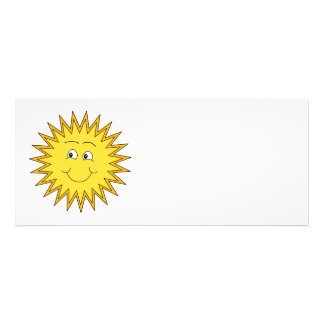 Yellow Summer Sun with a Happy Face Personalized Announcements