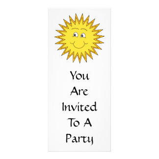 Yellow Summer Sun with a Happy Face Invite