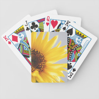 Yellow Summer Sunflower Bicycle Playing Cards