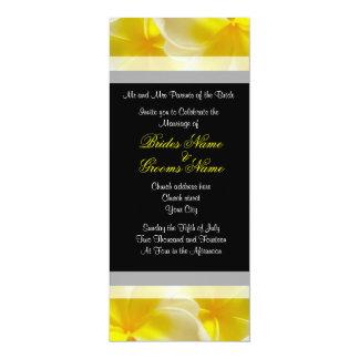 "Yellow Summer Wedding 4"" X 9.25"" Invitation Card"
