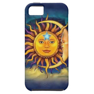 Yellow Sun and Moon iPhone 5 Case