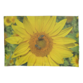 yellow sun flower summer blossom pillowcase