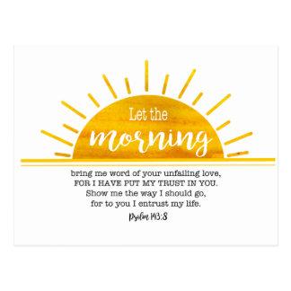 Yellow Sun Psalm Postcard