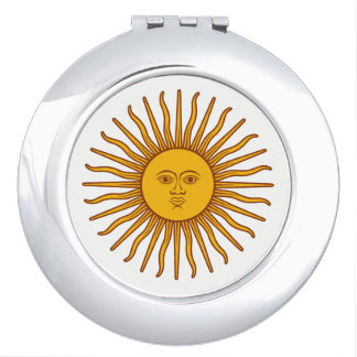 Yellow Sun Symbol Drawing White Mirror For Makeup